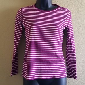 Talbots Striped Long Sleeve Tee